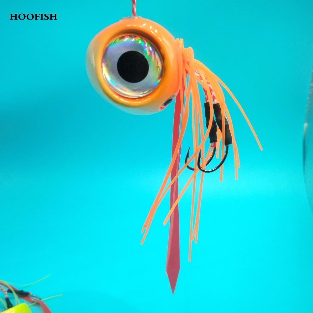 HOOFISH 1pcs/lot lead head fishing lure with Four 120g 3D eyes Deep Sea Artificial Fishing Bait hard lure fishing lure