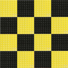 16PCS Black+Yellow Sound Absorption Pyramid Studio Foam Sponge Polyurethane  Acoustic Material For Noisy Occasion