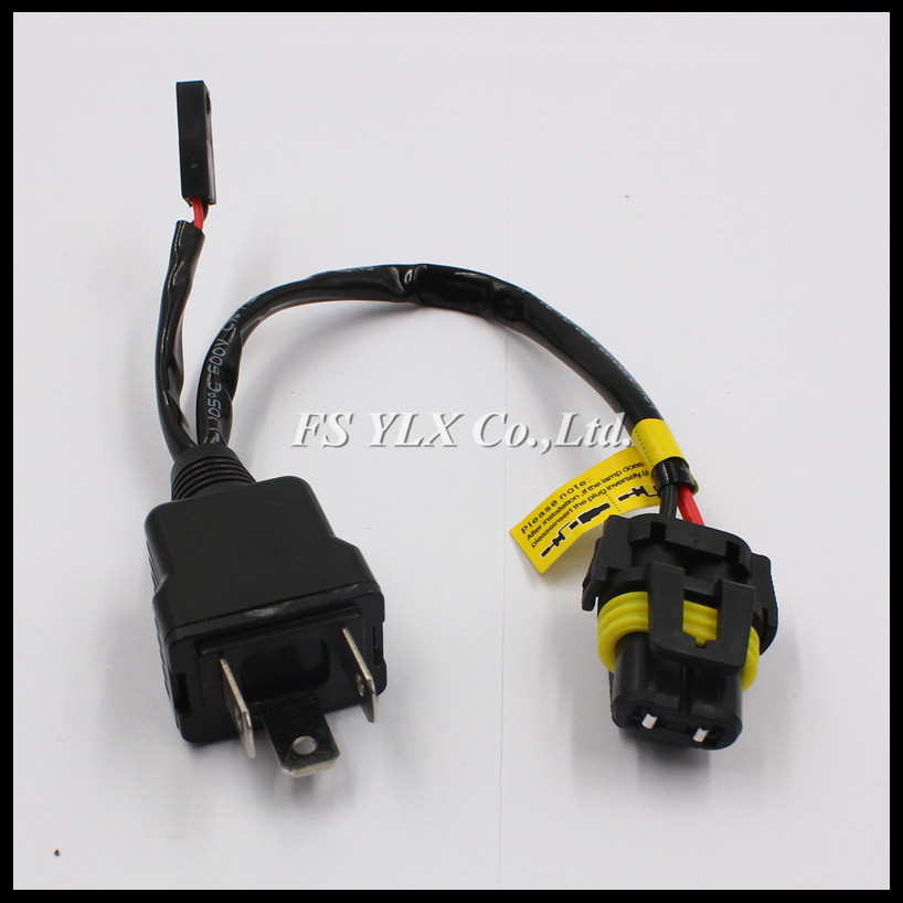 H4 9003 HB2 HID wiring harness controller 35W 55W H4 HID Xenon Relay Harness Wires for H4 HID xenon headlight kit huter r 220