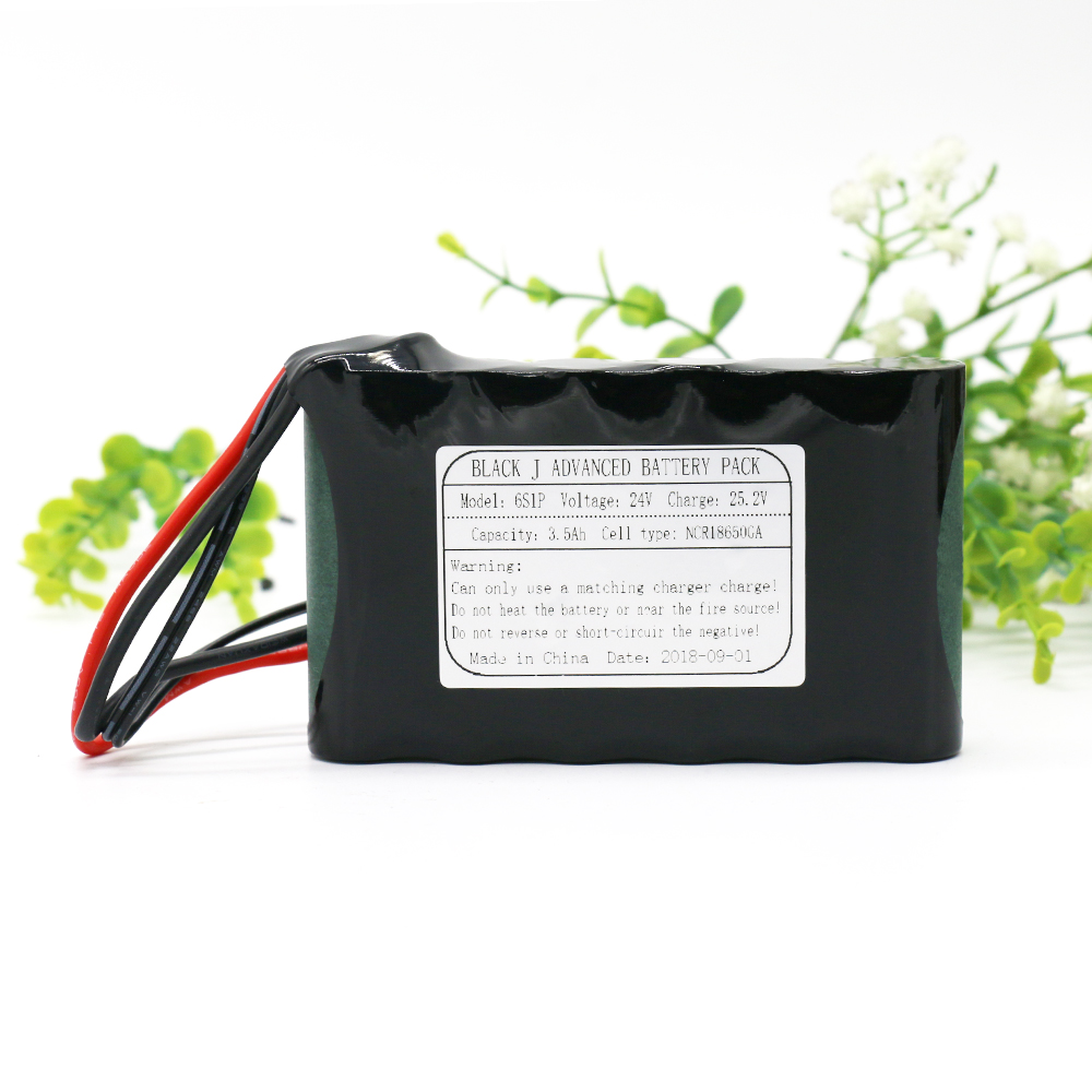 KLUOSI 24V/25.2V 3500mAh 6S1P Use NCR18650GA Li-Ion 24V Battery Pack with 20A BMS for Small Electric Motor Bicycle Ebike Scooter