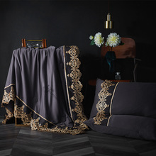 New Summer Green Tencel Satin Quilts Ruffles Duvet 1pc Bed Cover Freshness Linens Throw Blankets Solid Bedding