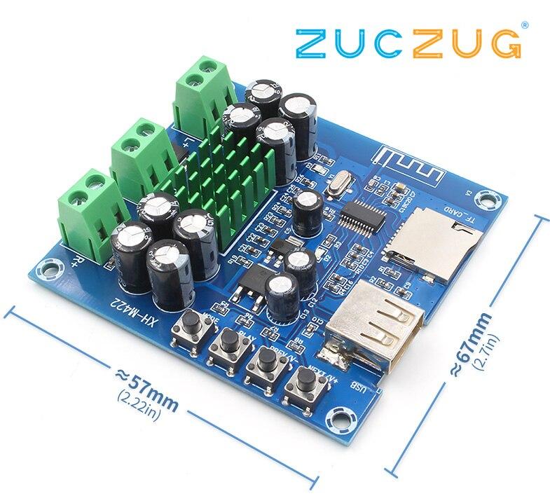 XH-M422 DC12-24V TPA3116D2 50 w + 50 w Bluetooth 4.0 scheda di amplificazione Con Bluetooth lettore di schede di TF del disc di U C3-001