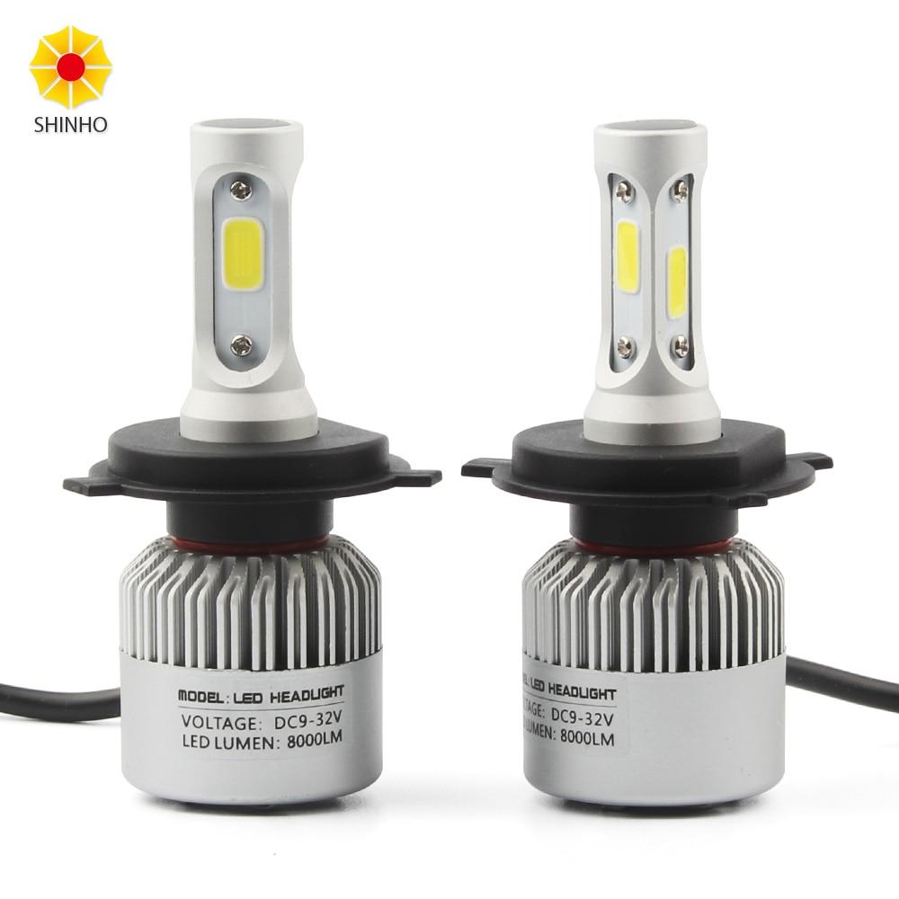 2x72W H4 HB2 9003 8000Lm COB светодиодный автомобильный головной светильник Hi/Lo луч лампы 6500K H/L авто DRL противотуманная фара комплект