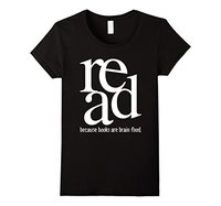GILDAN Read Because Books are Brain Food - Reading T-Shirt Organic Cotton Female T Shirt Kawaii Hip Hop Brand Fashion