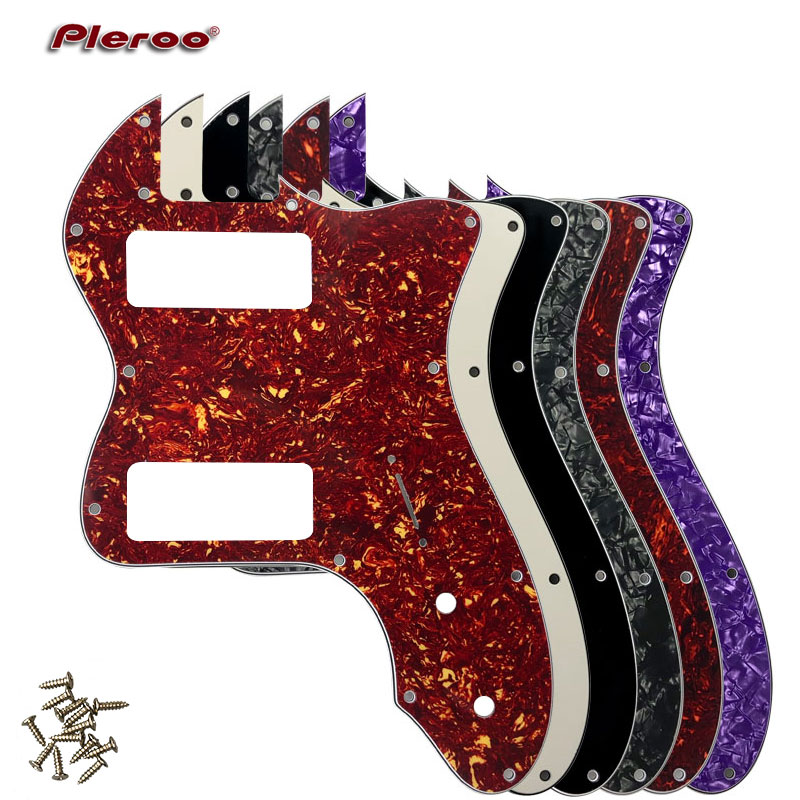 Pleroo Guitar Parts - For Classic Series '72 Telecaster Tele Thinline Guitar Pickguard Scratch Plate  With P90 Humbucker Pickups