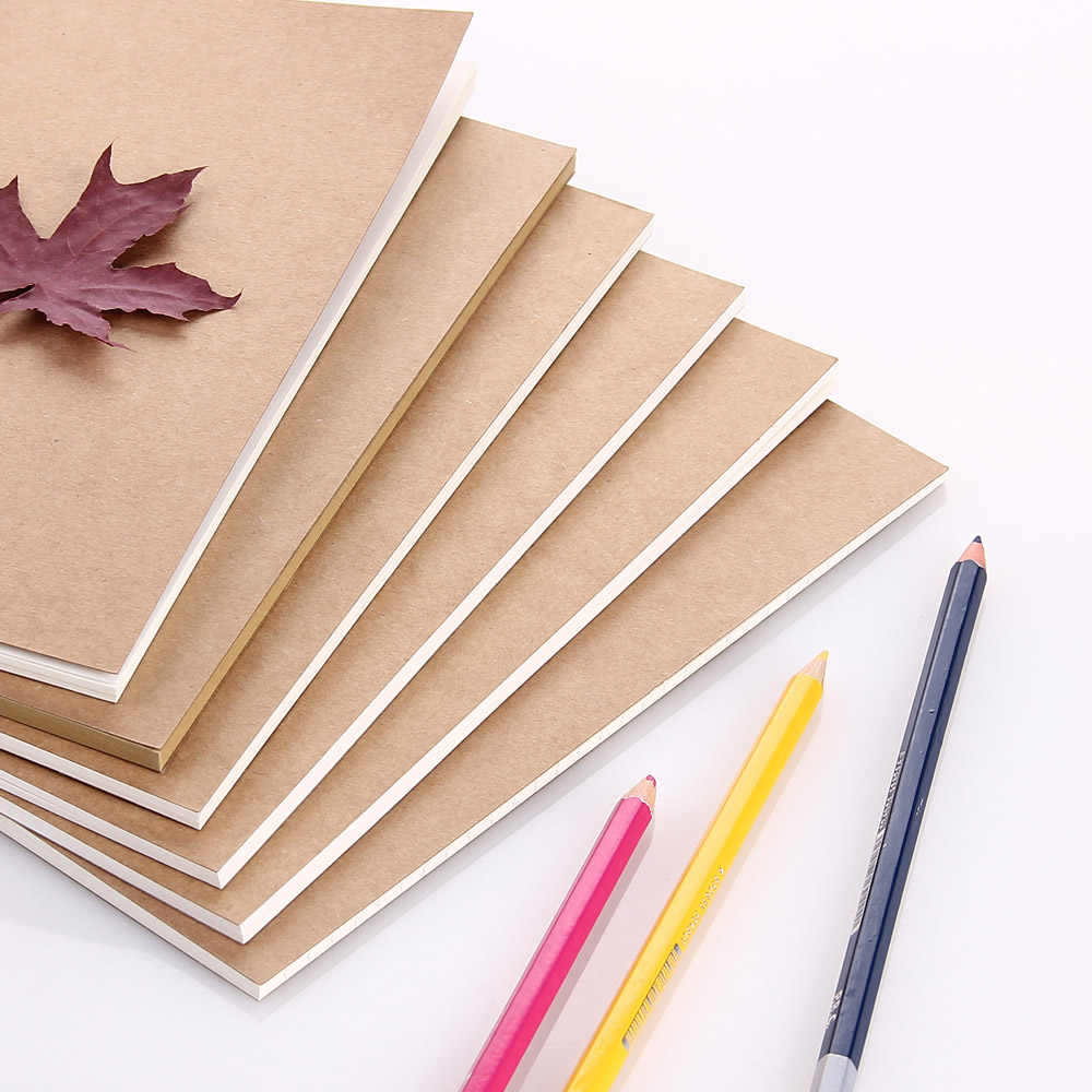 Refillable Paper Traveler's Notebook Filler Papers / Journal Dairy Inserts Refill Paper Kraft paper 1pc