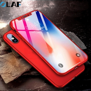 360 Protective Case for iPhone 6 6 S 7 8 Plus 5 5S SE Hardened Front Glass Back Case Full Body Protection Protective Case Shells