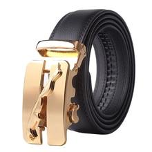 New Designer Automatic Buckle Cowhide Leather men belt Fashion Luxury belts for men designer belts men high quality