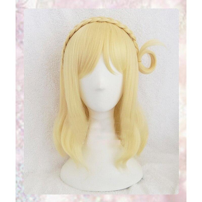 Ohara Mari LoveLive Sunshine Aqours Long Blonde Straight Cosplay Full Wig+Wig Cap