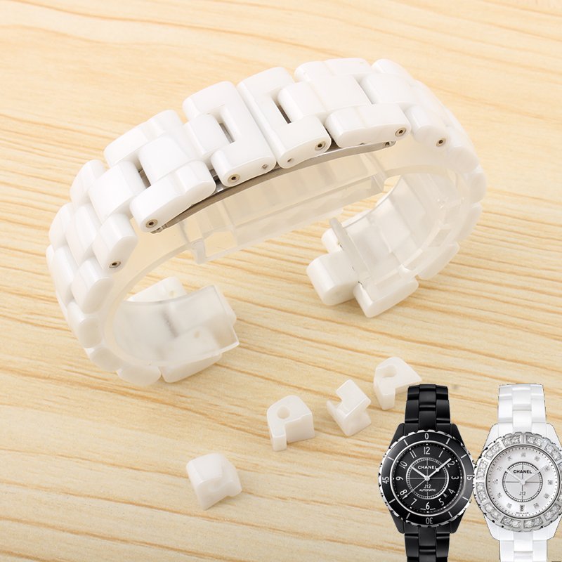Quartz Watch Ceramic Strap Black | White for chanel J12 H0685 | H1628 Men & Women Fashion Watch Chain 16MM 19MM watchband часы chanel j12 h2570
