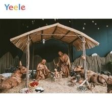 Yeele Nativity Scene Jesus Birth Christmas Religious Barn Photographic Backgrounds Photography Backdrop Photocall Photo Studio