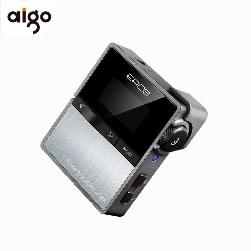 Aigo EROS DIX Portable Stéréo Sans Perte Mp3 Professionnel bluetooth HIFI Lecteur USB DSD DAC Mini Audio Musique Lecteur Soutien 128 GB