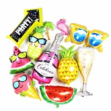 Birthday Balloons Flamingo/Pineapple/rainbow Foil Ballons Decoration Kids Adult Party new Year Globos Supplies