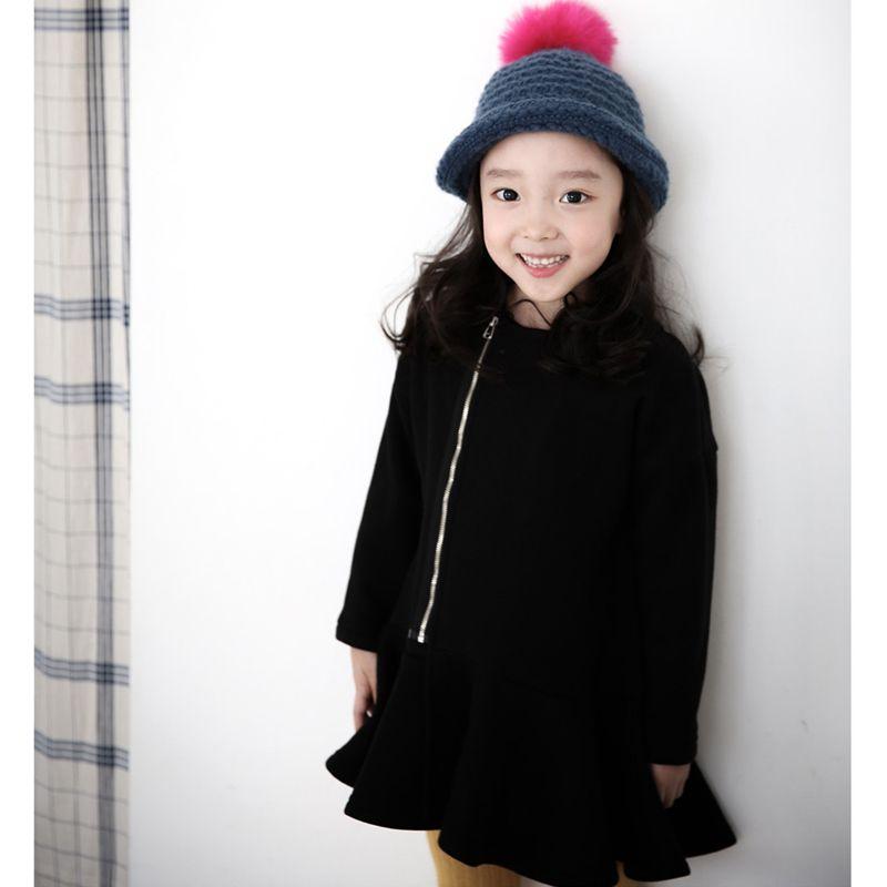 3-12year для девочек осень и зима большой Детское платье плюс бархатные толстые сплошной детский вечернее платье для маленьких девочек платье ...