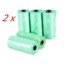 10 Rolls/150 Pcs Degradable Pet Dog Waste Poop Bag With Printing Doggy Bag Pet Waste Clean Poop Bags 4 colors