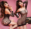 Hot Sexy Lingerie Striped Hollow Fishnet Bodystocking clubwear Dress Costume
