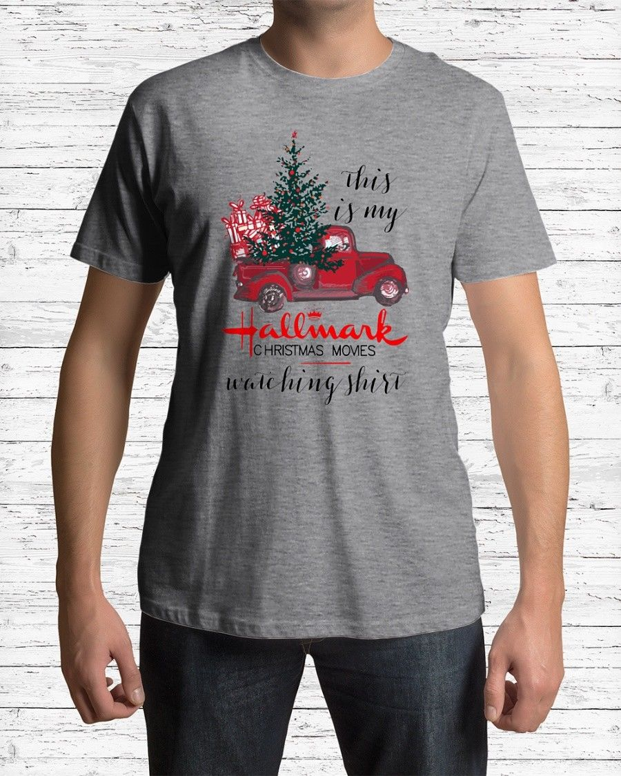 This is My Hallmark Christmas Movies Watching Shirt Men's T Shirt custom printed tshirt, hip hop funny tee, mens tee shirts