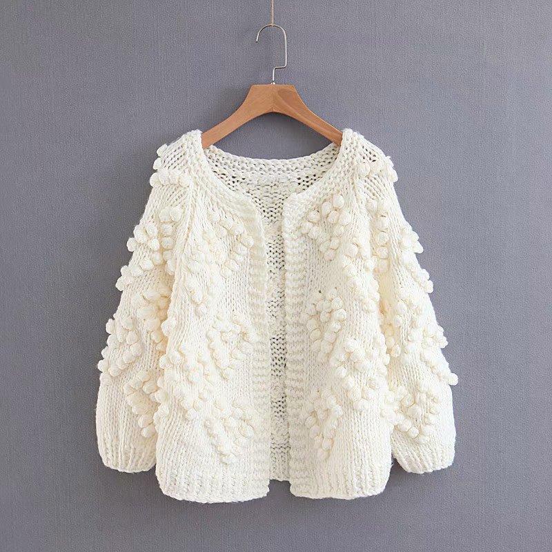0c9f51c84 2018 Autumn Fashion Women Thick Imitation Cashmere Cardigan Sweaters ...
