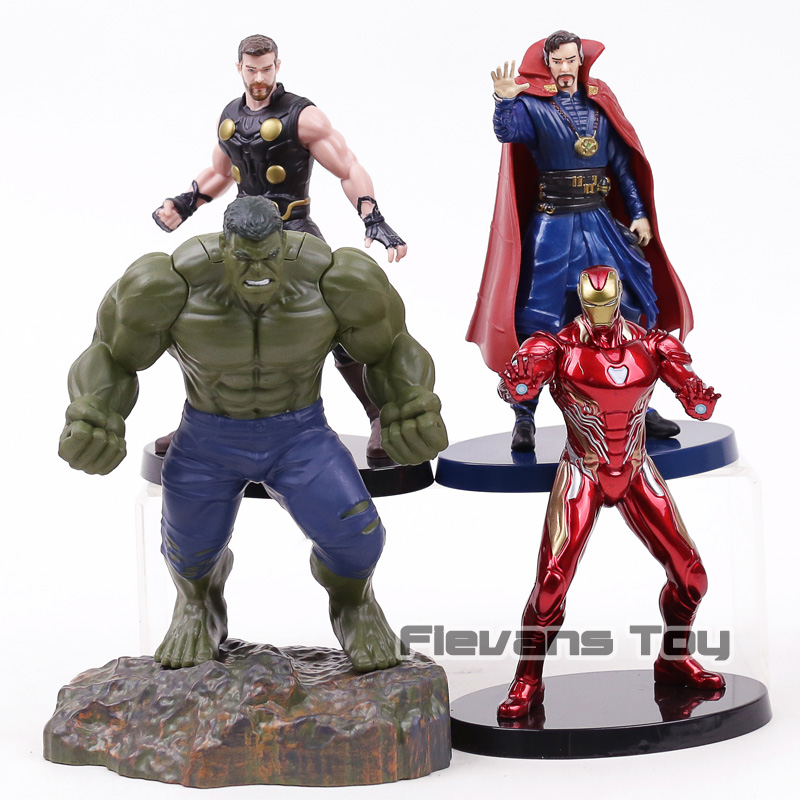Avengers Infinity War Thor Doctor Strange Hulk Iron Man Statue PVC Figure Marvel Super Heroes Toys