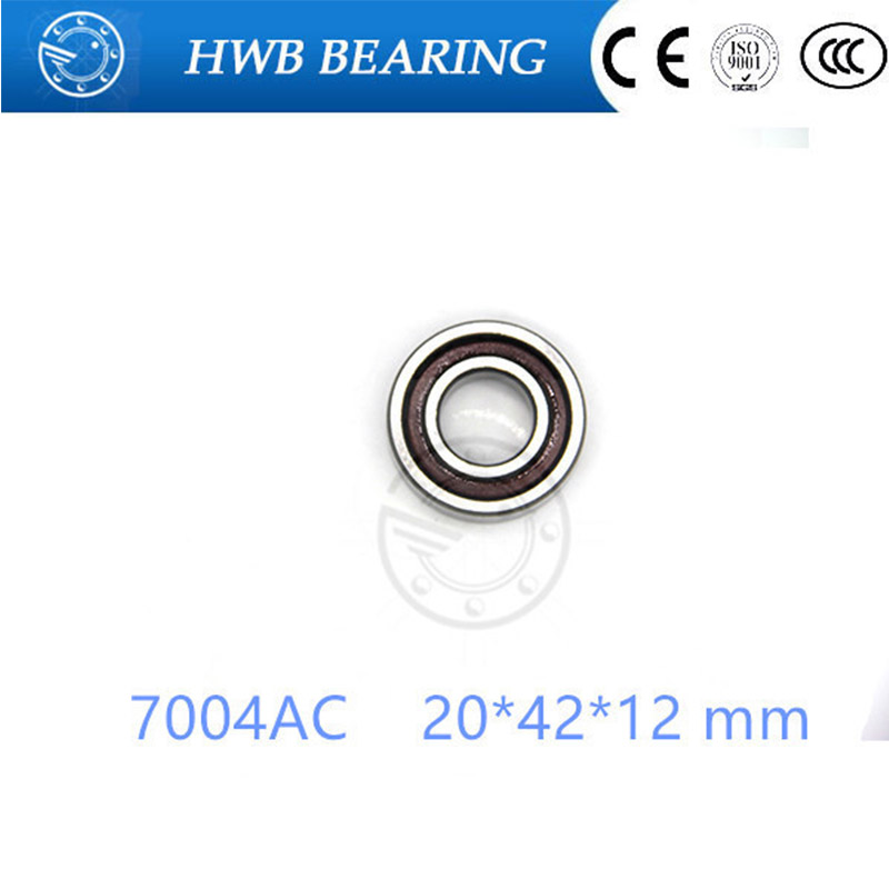 20mm Spindle Angular Contact Ball Bearings 7004ac SUPER PRECISION BEARING ABEC-5  7004AC 20x42x12mm gcr15 6326 zz or 6326 2rs 130x280x58mm high precision deep groove ball bearings abec 1 p0
