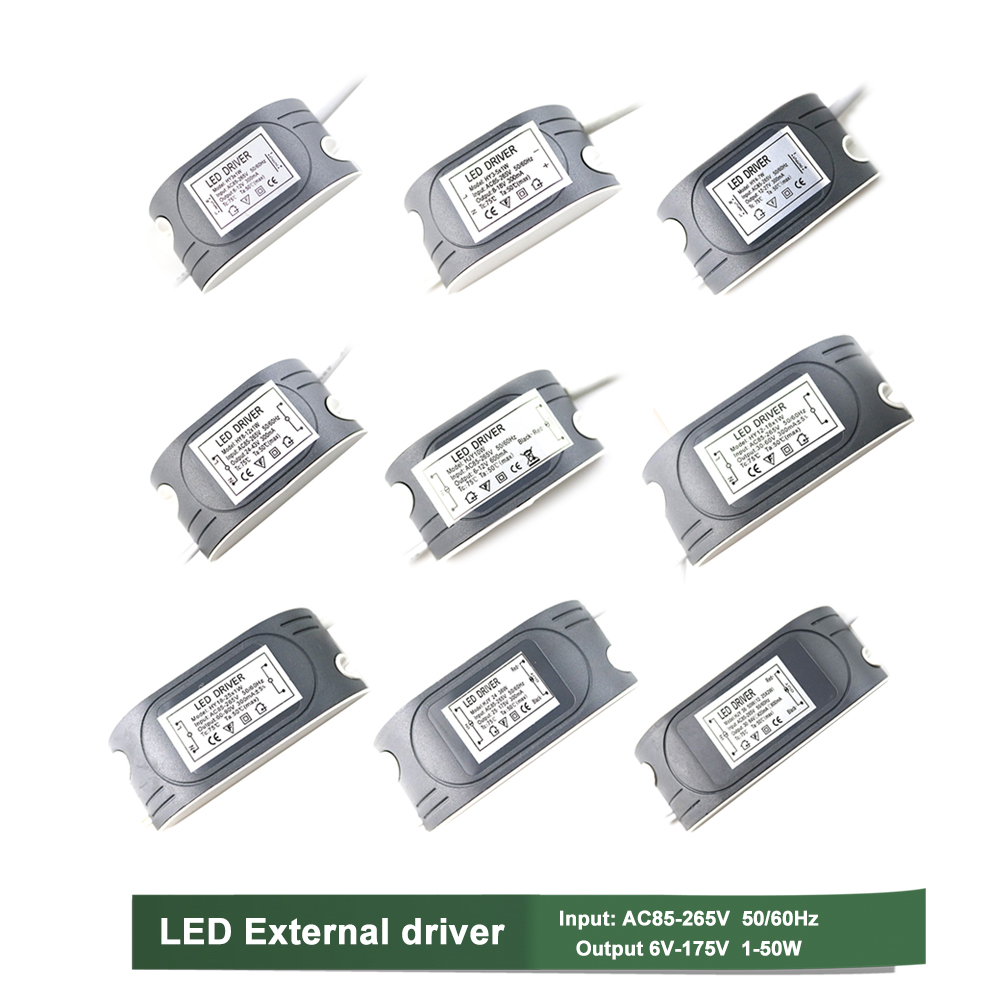<font><b>LED</b></font> External <font><b>Driver</b></font> Constant Current Power Supply <font><b>LED</b></font> Lamp Lighting Transformer 1-50W Optional Transformator 220v 12v 6-175V IL image