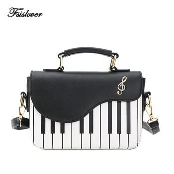0a0e003d3a76 Новинка 2019 года; модная женская сумка на плечо; женская дизайнерская сумка-клатч  с надписью «Piano keys»; женская сумка-мессенджер с вышивкой