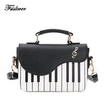 2018 Новая модная женская сумка на плечо женская сумка с рояльными клавишами дизайнерская сумка-клатч женская вышивка через плечо сумка-мессенджер