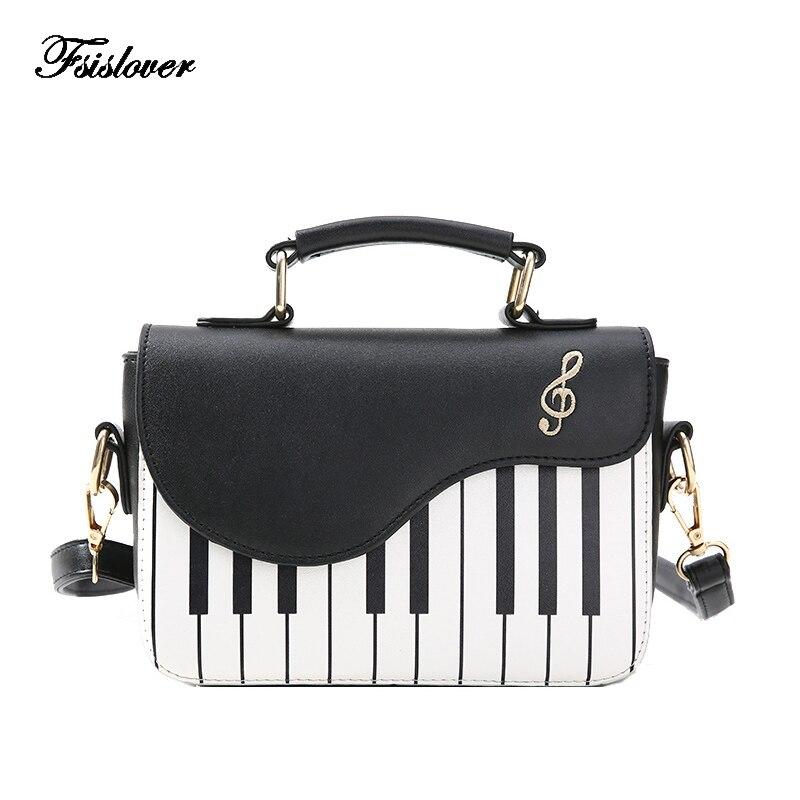 2019 nueva moda bolso del hombro de las mujeres bolso de teclas de Piano diseñador bolsos de embrague bolsa mujer bordado bolso mensajero bolsa