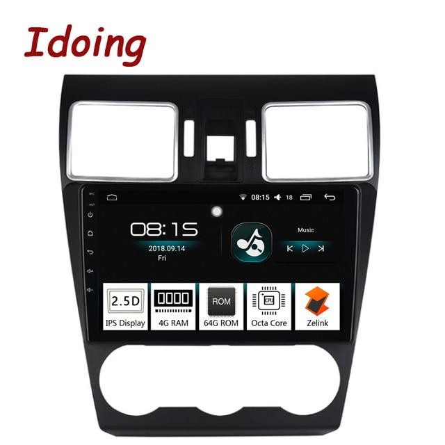 """Idoing 1Din 9 """"車のアンドロイド 8.0 の無線 GPS マルチメディアプレーヤー IPS 2.5D スバルフォレスター 2016-2018 4 グラム + 64 グラム 8 コアナビゲーション Zlink"""