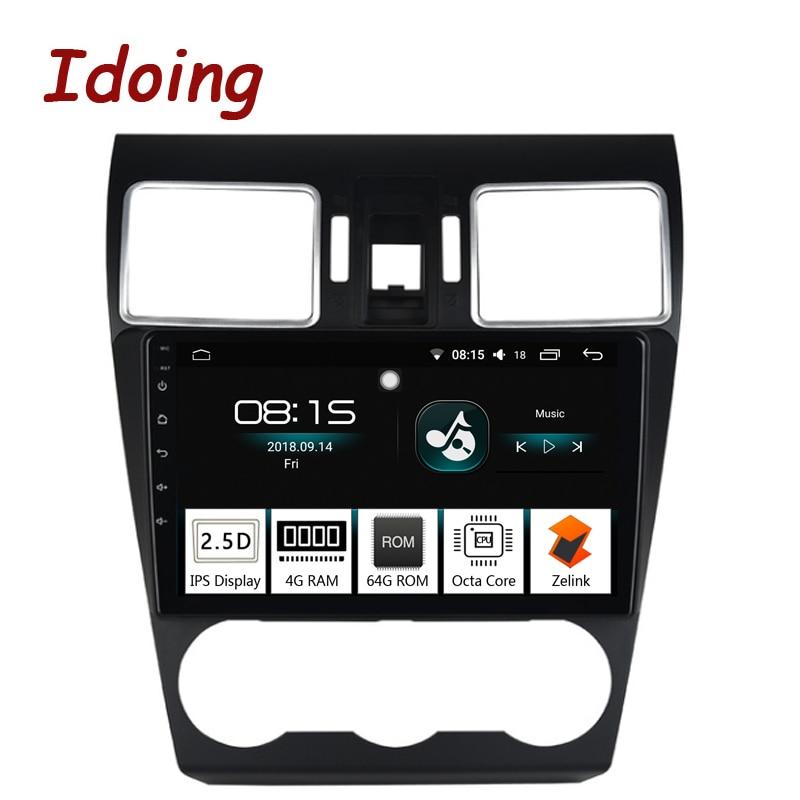 Idoing 1Din 9 Voiture Android8.0 Radio GPS Lecteur Multimédia 2.5D Pour Subaru Forester 2016-2018 4g + 64g 8 Core Navigation Soutien 3g