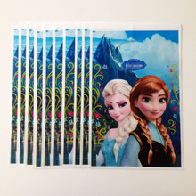 10pcs/set Anna and Elsa Party Supplies Gift Bag Cartoon Party For Kids/Girls Happy Birthday Decoration Theme Party Supplies