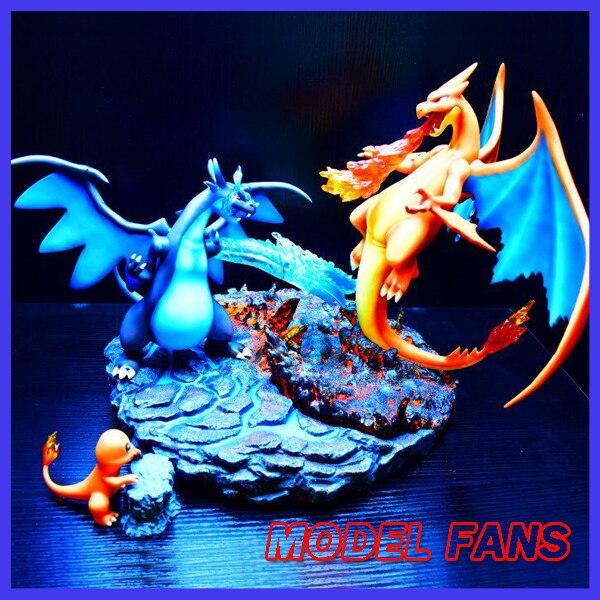 MODEL FANS IN-STOCK pokemon 38cm height Charizard VS mega evolution Charizard gk resin statue figure for collection