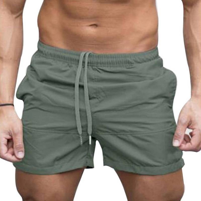 2018 Summer Style Fashion Men's Classic   Board     Shorts   Solid Drawstring Waist Beach Wear   Shorts   Casual Male   Shorts   Fitness Wear