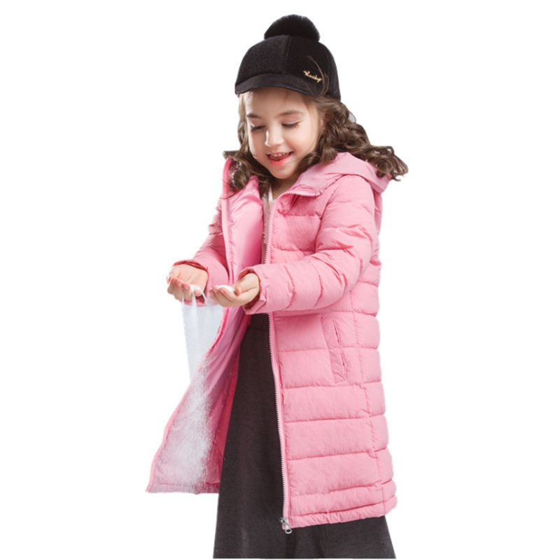 Girl Down Jacket 2018 New Winter Girl Outerwear Hooded Long Girls Cotton Coat Casual Slim Parka Children Clothing LK165 swing long arm wall light rustic retro loft style industrial wall lamp vintage wandlamp edison wall sconces appliques murales