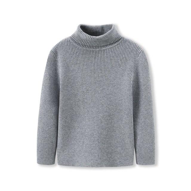 Balabala Toddler Boy Rib Knit Roll up Turtleneck Sweater