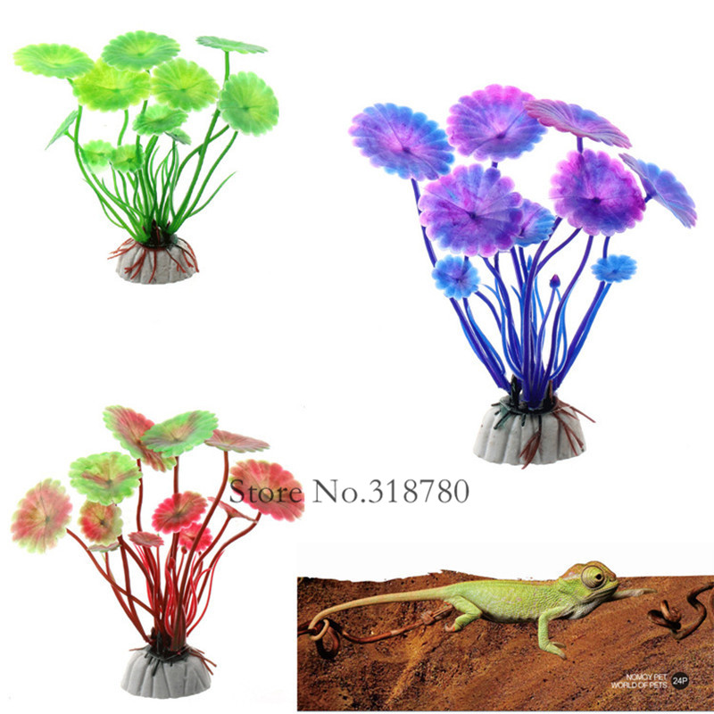 1Pc Small Artificial Aquarium Plants Decoration plastic plants Flower fish tank Decor
