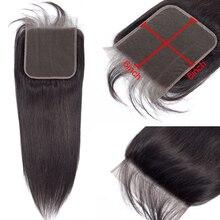 Глубокая пробора 6*6 закрытие шнурка отбеленные узлы прямые перуанские Remy человеческие волосы с детскими волосами предварительно выщипанные натуральные волосы