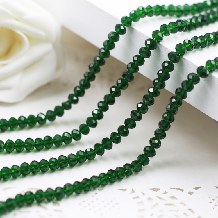 5040 AAA Top Quality Emerald Color Loose Crystal Glass Rondelle Beads.2mm 3mm 4mm,6mm,8mm 10mm,12mm Free Shipping!