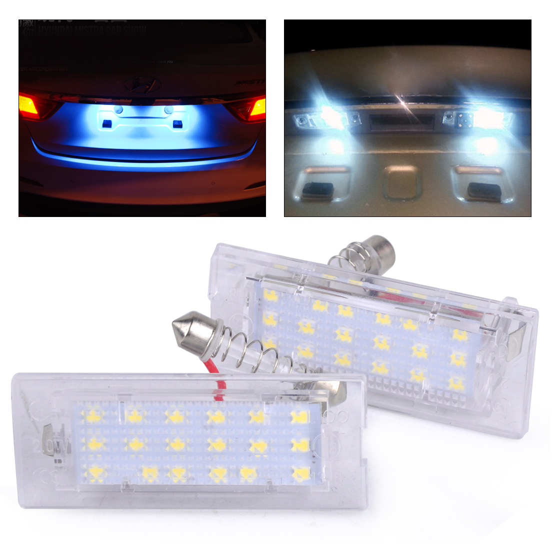 0beler New Pair Error Free LED License Plate Light Lamps for BMW X5 E53 X3 E83 2004 2005 2006 2007 2008 2009 2010 2011 2012-2015 smaart v 7 new license