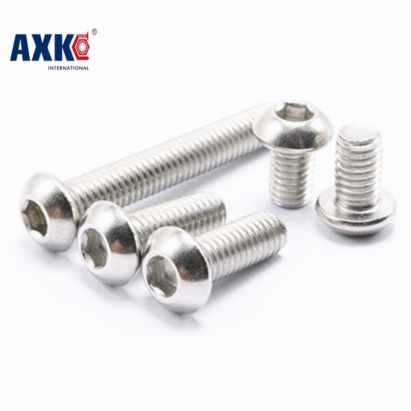 50pcs/Lot M6x25 mm M6*25 mm yuan cup Half round head 304 Stainless Steel Hex Socket Head Cap Screw Bolts M6x25 5pcs m6 m6 14 m6x14 brass cap copper half round pan head solid rivet