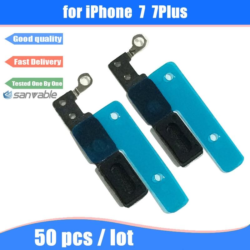 imágenes para Para iphone 7 7 plus 50 unids/lote alta calidad interior del altavoz del auricular adhesivo pantalla anti polvo parrilla de la malla con junta de goma
