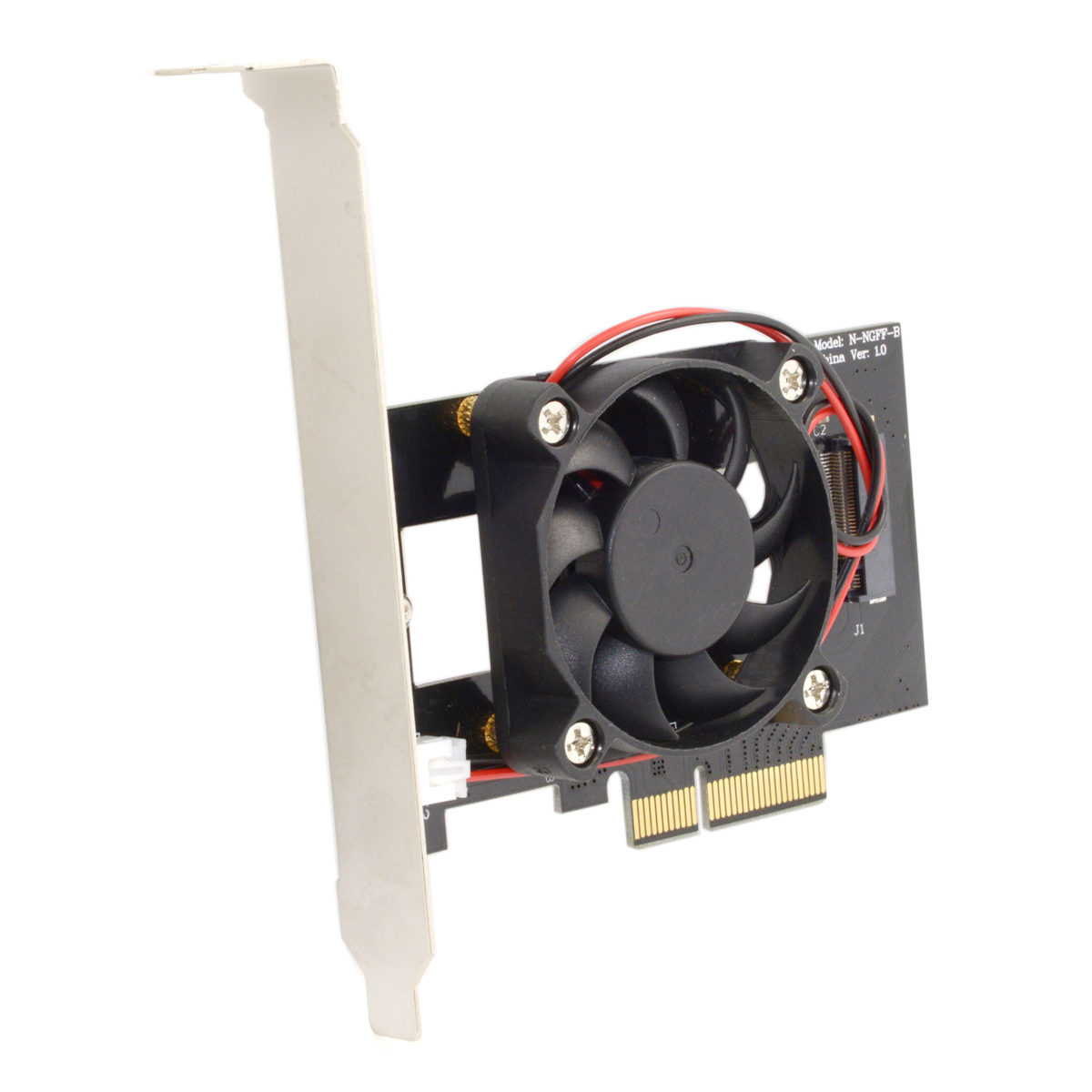 Pci-E 3.0 X4 Lane Host Adapter Converter Card M.2 Ngff M Key Ssd To Nvme+Fan new