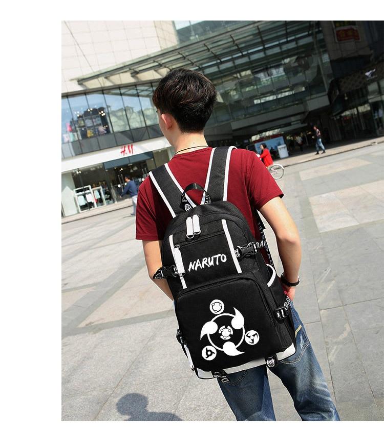 Wearing Naruto Glowing Backpack
