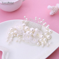 Ivory Pearls Little Flowers wedding bridal Hair Clip Bridal Comb Hair wedding Accessories DH016