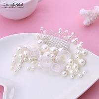 Ivory Pearls Little Flowers wedding bridal Hair Clip Bridal Comb Hair wedding Accessories DH016