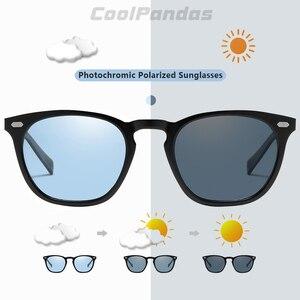 Image 2 - 2019 clássico retro feminino olho de gato óculos de sol fotochromic polarizado rosa óculos de sol dos homens oculos gafas de sol mujer uv400