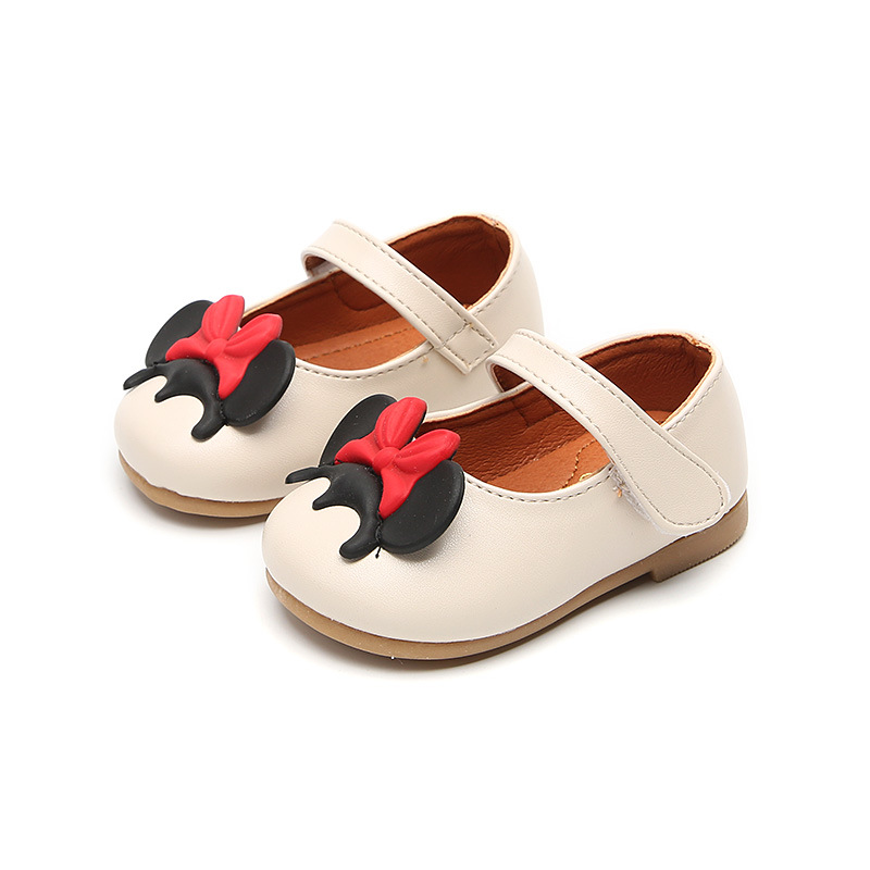 Lovely Baby Girls Single Shoes Genuine Leather Shoes For Girls Flats Children Shoes