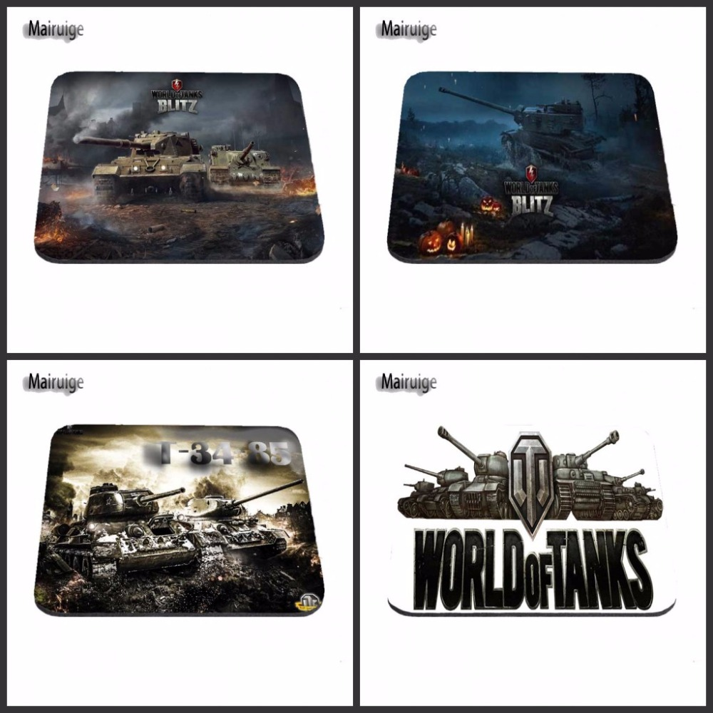 Top Selling World of Tanks Popular Gaming Rectangle Silicon Durable Mouse Pad Computer M ...