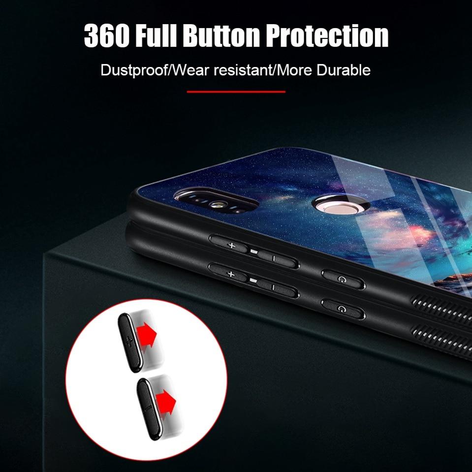Tempered Glass Case For Xiaomi Redmi 6A Note 5 6 Pro Global 5 Plus 4X Cover Pattern Xiomi Phone Case for Xiaomi Mi A2 Lite A1 5X (9)
