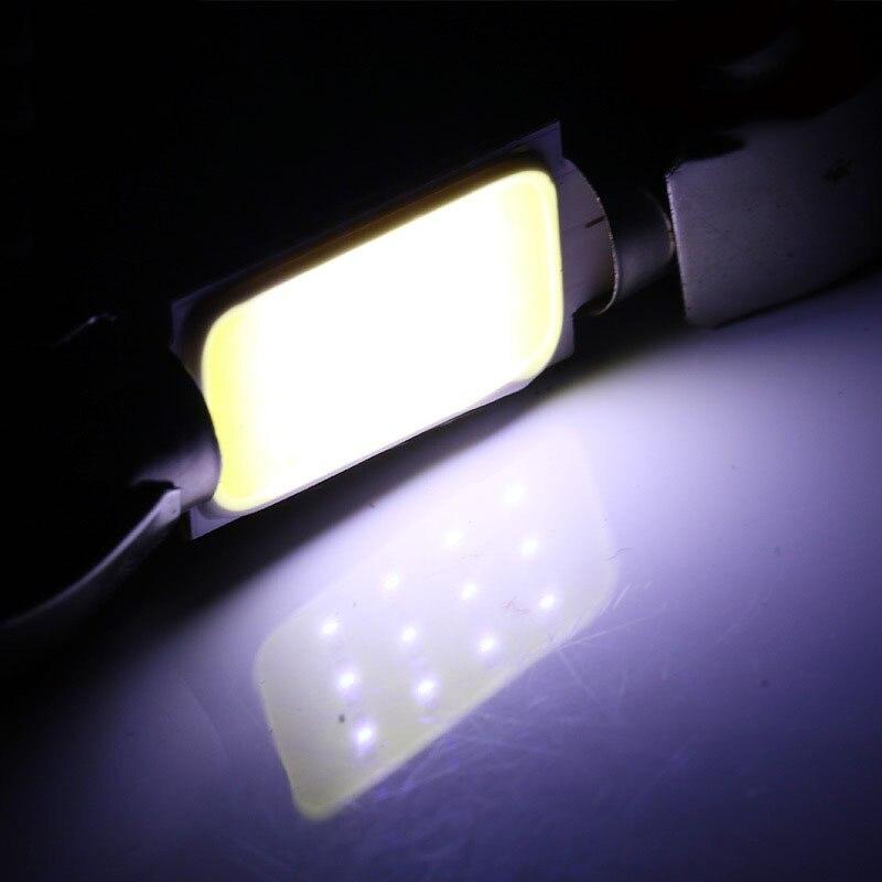 HTB1BJqdh7zoK1RjSZFlq6yi4VXaz 1x C10W C5W LED COB Festoon 31mm 36mm 39mm 41/42mm 12V White bulbs for cars License plate Interior Reading Light 6500K 12SMD